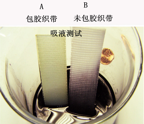 包胶织带吸液测试